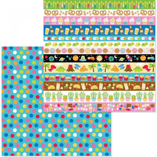 Papel Estampado Doble Cara 12x12 So Much Pun Dots Of Fun