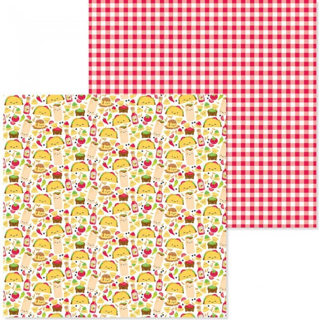 Papel Estampado Doble Cara 12x12 So Much Pun Fantas-Taco