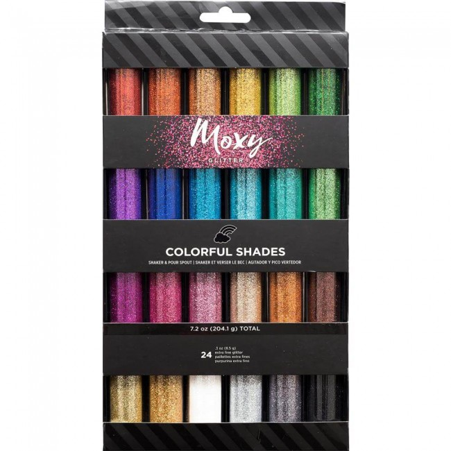 Set de Purpurina Moxy Extra Fine Colorful Shades