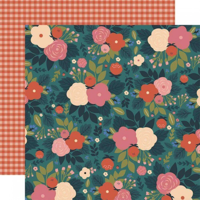 Papel Estampado Doble Cara 12x12 Coffee Wake Up And Smell The Flowers