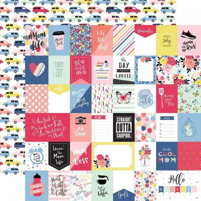Papel Estampado Doble Cara 12x12 I Am Mom Multi Journaling Cards