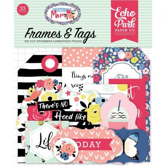 Die Cuts I Am Mom Frames & Tags