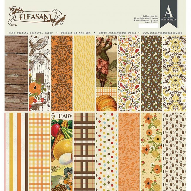 Kit Papeles Estampados 12x12 Pleasant