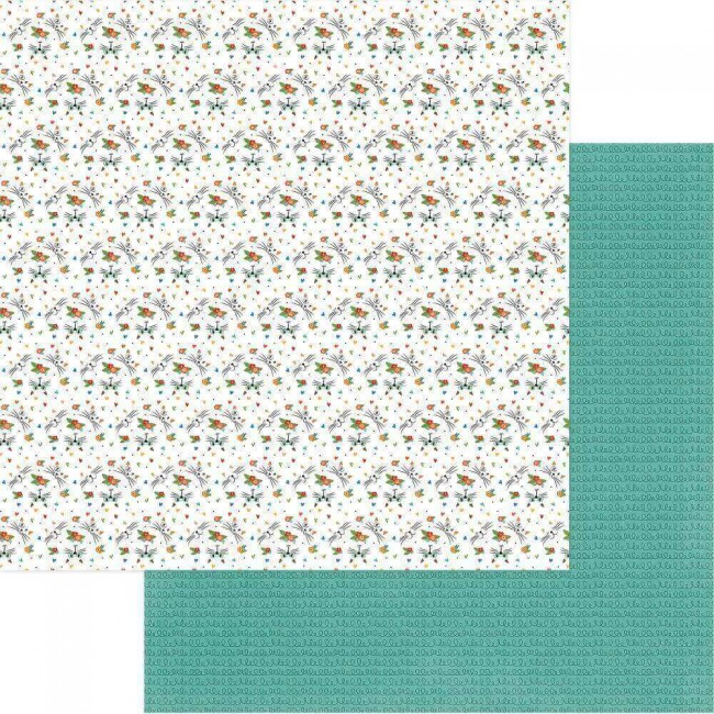 Papel Estampado Doble Cara 12x12 Whiskers Whiskers