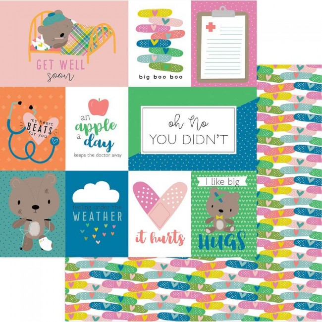 Papel Estampado Doble Cara 12x12 Under the Weather Owie