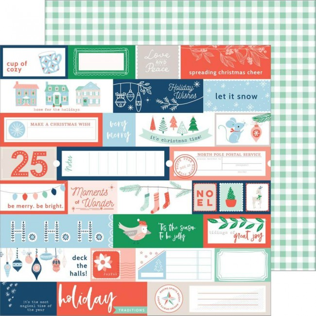 Papel Estampado Doble Cara 12x12 Holiday Vibes Very Merry