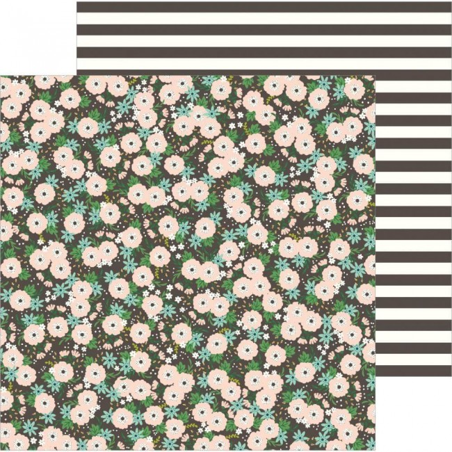 Papel Estampado Doble Cara 12x12 Along The Way Blooms
