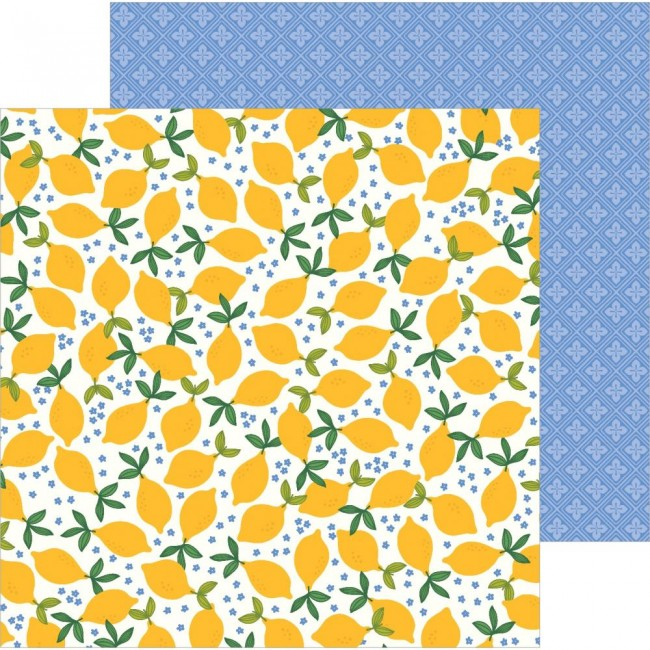 Papel Estampado Doble Cara 12x12 Along The Way Lemonade Stand