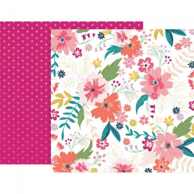 Papel Estampado Doble Cara 12x12 Whimsical #3