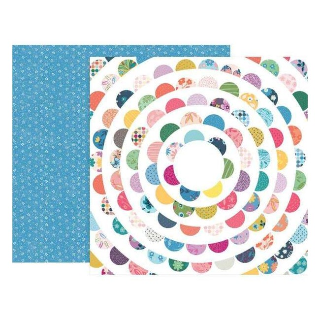 Papel Estampado Doble Cara 12x12 Whimsical #23