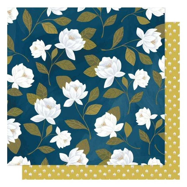 Papel Estampado Doble Cara 12x12 Goldenrod Raleigh Floral