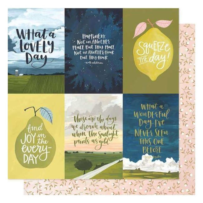 Papel Estampado Doble Cara 12x12 Goldenrod Golden Quotes