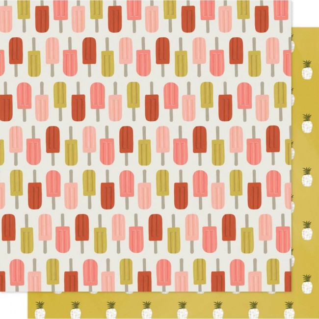 Papel Estampado Doble Cara 12x12 Goldenrod Popsicles Forever
