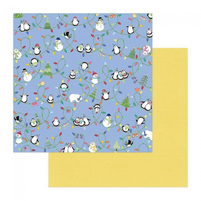 Papel Estampado Doble Cara 12x12 Frosty Friends Snow Day
