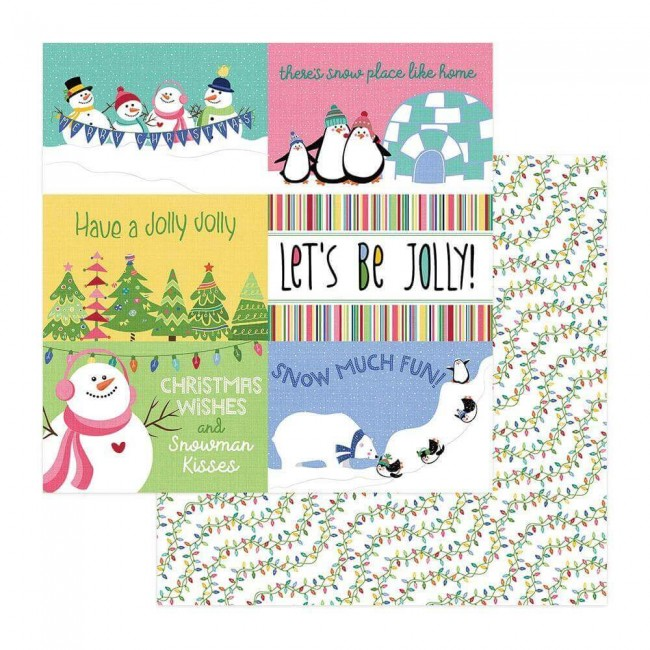 Papel Estampado Doble Cara 12x12 Frosty Friends Snow Much Fun