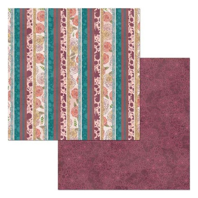 Papel Estampado Doble Cara 12x12 Floral Spice Intrigue