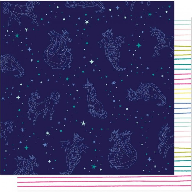 Papel Estampado Doble Cara 12x12 Head In The Clouds Look To The Stars