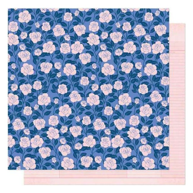 Papel Estampado Doble Cara 12x12 Head In The Clouds Borrowed Bliss