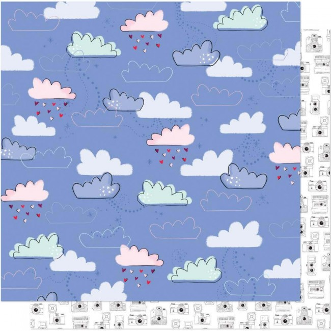 Papel Estampado Doble Cara 12x12 Head In The Clouds Castles On Clouds