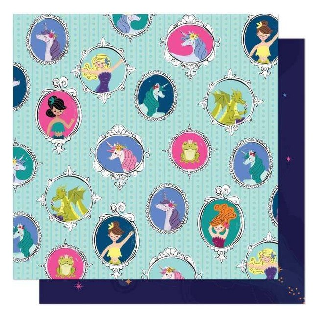Papel Estampado Doble Cara 12x12 Head In The Clouds Never Grow Up