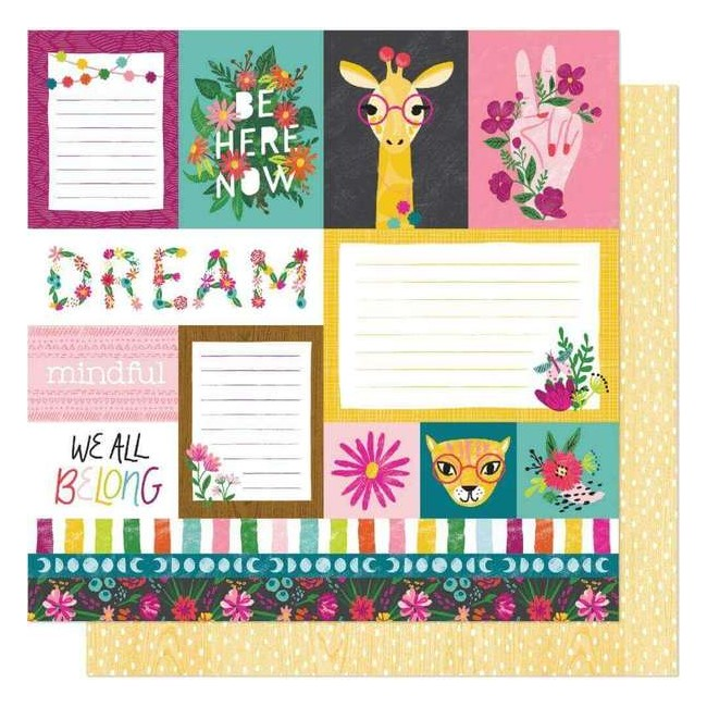 Papel Estampado Doble Cara 12x12 New Day Dreamer