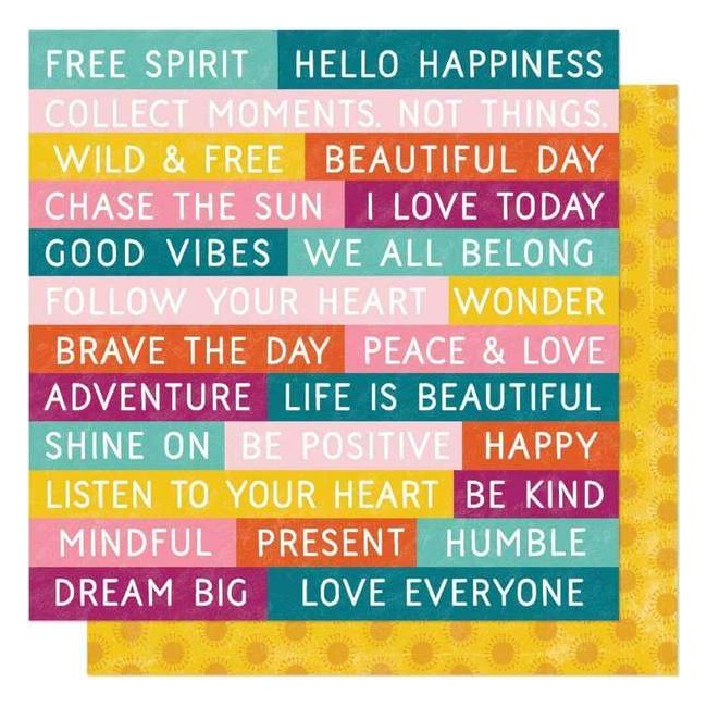 Papel Estampado Doble Cara 12x12 New Day Wild & Free