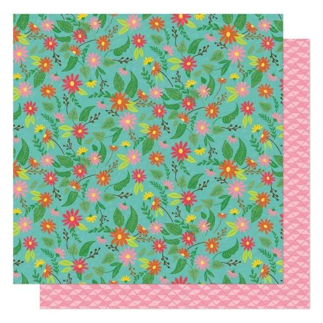 Papel Estampado Doble Cara 12x12 New Day Flower Child