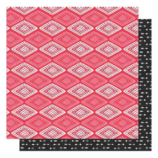 Papel Estampado Doble Cara 12x12 New Day Love Warrior
