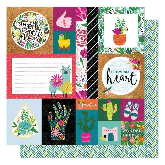 Papel Estampado Doble Cara 12x12 New Day Kind Heart