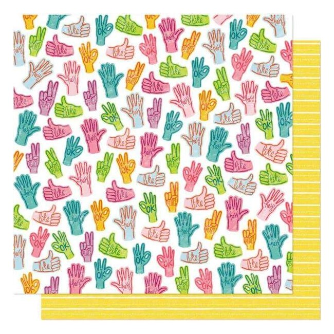 Papel Estampado Doble Cara 12x12 New Day Peace