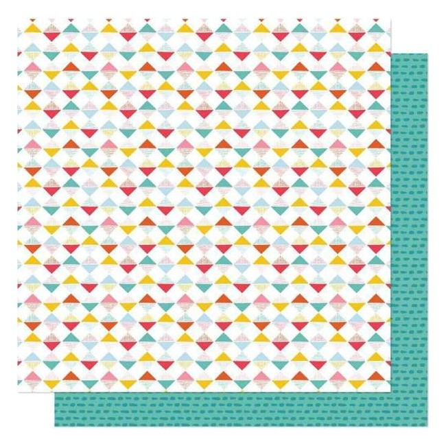 Papel Estampado Doble Cara 12x12 New Day Shine Bright