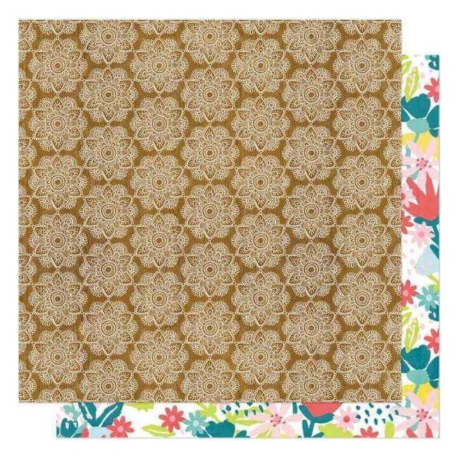 Papel Estampado Doble Cara 12x12 New Day Namaste