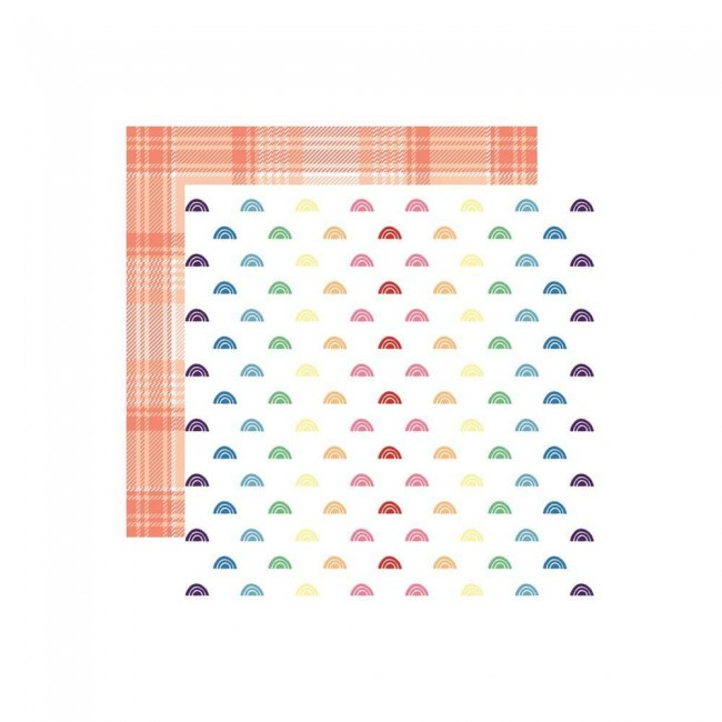 Papel Estampado Doble Cara 12x12 Changing Colors Rainbows