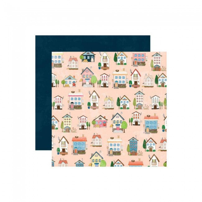 Papel Estampado Doble Cara 12x12 Changing Colors Home Sweet Home