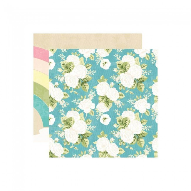 Papel Estampado Doble Cara 12x12 Changing Colors Over The Rainbow