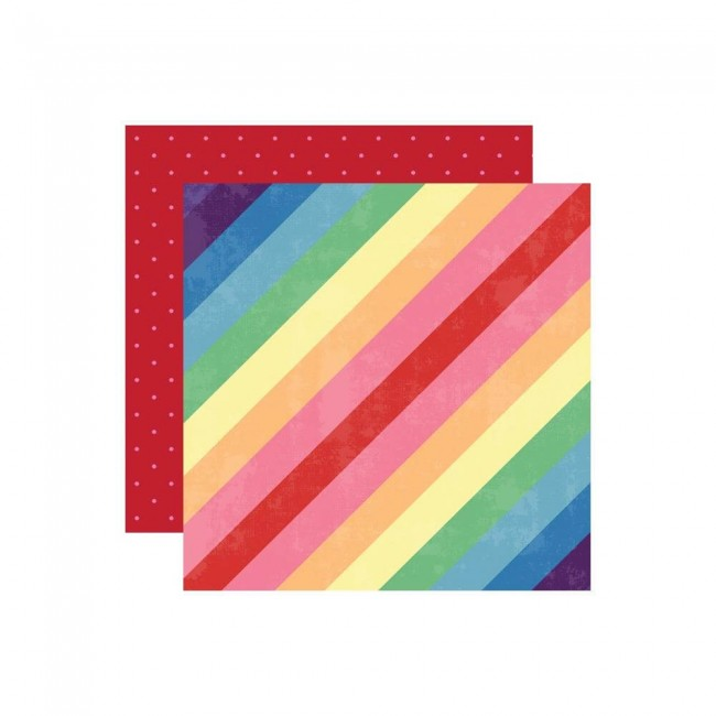 Papel Estampado Doble Cara 12x12 Changing Colors Stripes