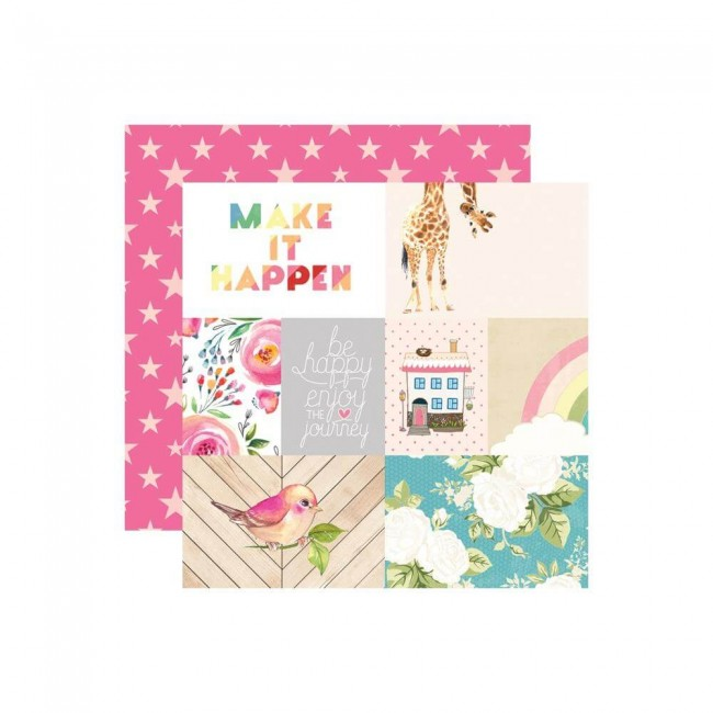 Papel Estampado Doble Cara 12x12 Changing Colors Make It Happen