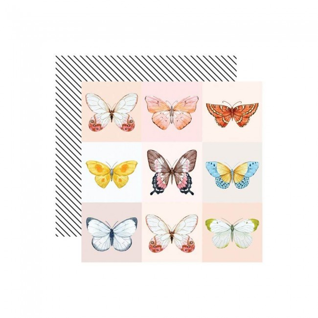 Papel Estampado Doble Cara 12x12 Love Is In The Air Butterfly