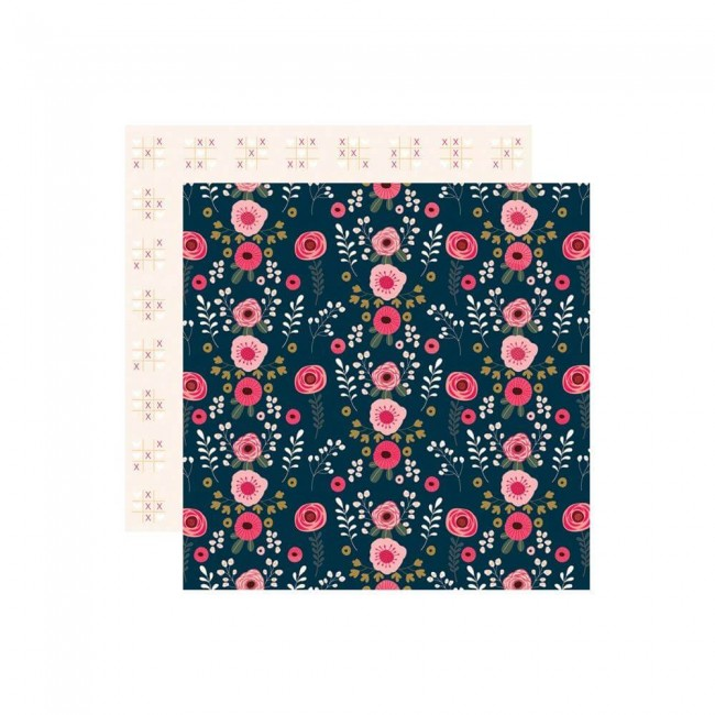 Papel Estampado Doble Cara 12x12 Love Is In The Air Hugs & Kisses