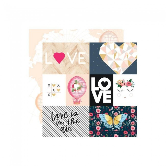 Papel Estampado Doble Cara 12x12 Love Is In The Air Love Is In The Air