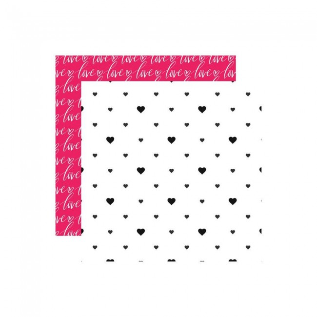 Papel Estampado Doble Cara 12x12 Love Is In The Air Hearts