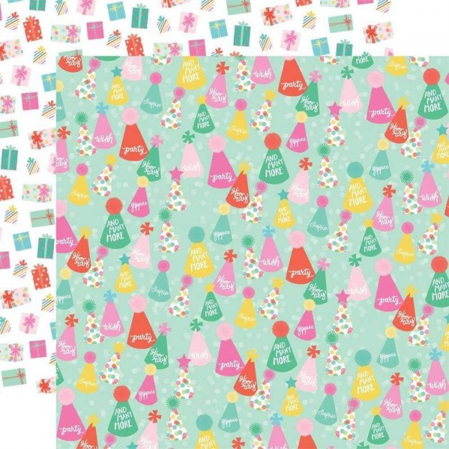 Papel Estampado Doble Cara 12x12 Let's Party And Many More