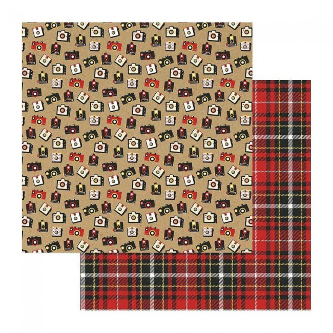 Papel Estampado Doble Cara 12x12 A Day At The Park Cameras