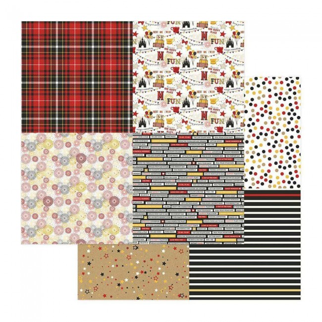 Papel Estampado Doble Cara 12x12 A Day At The Park Quad #1/#2