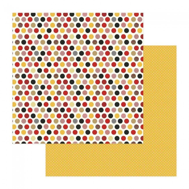 Papel Estampado Doble Cara 12x12 A Day At The Park Multi Dot