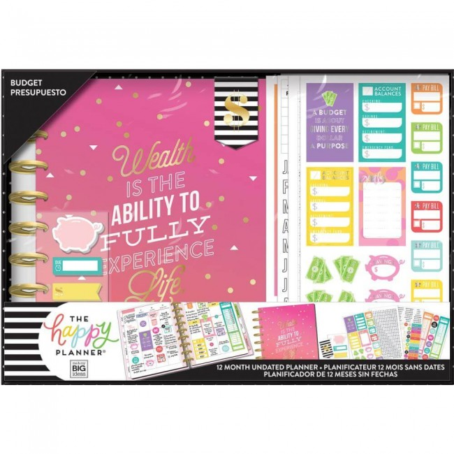 Kit Happy Planner Mediano Budget Wealth (Perpetuo 12 meses)