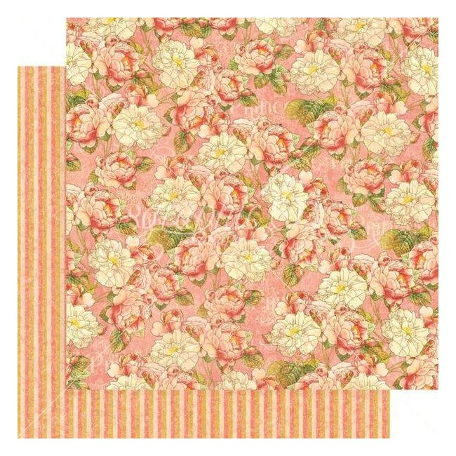 Papel Estampado Doble Cara 12x12 Princess Roses For Royalty