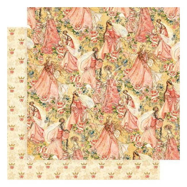Papel Estampado Doble Cara 12x12 Princess Pretty In Pink