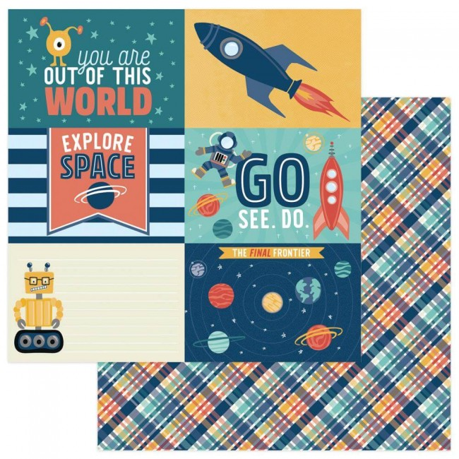 Papel Estampado Doble Cara 12x12 To The Moon And Back Out Of This World