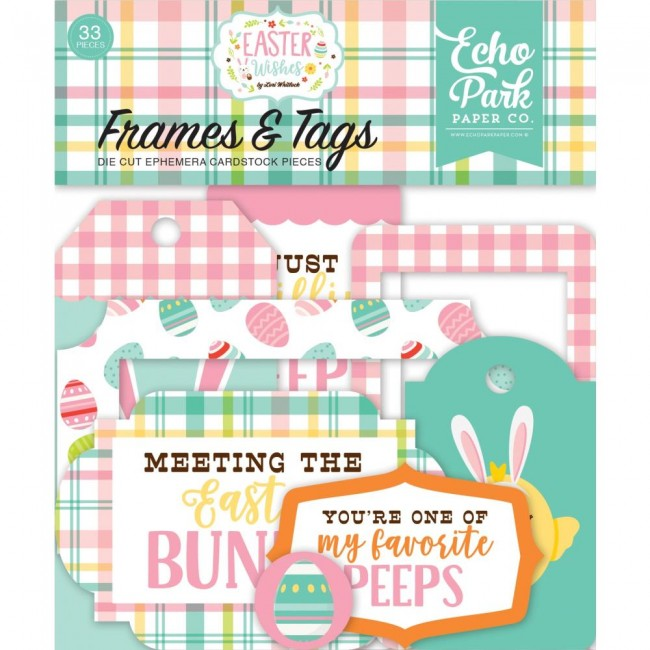 Die Cuts Easter Wishes Frames & Tags
